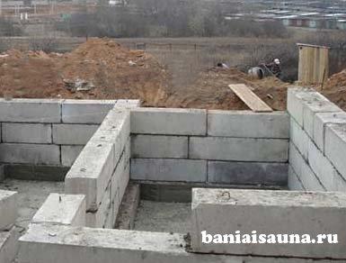Фундамент под баню из блоков