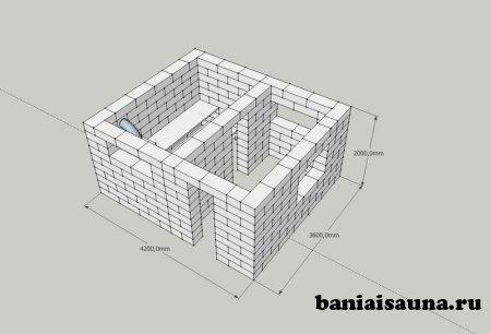 Баня из блоков своими руками