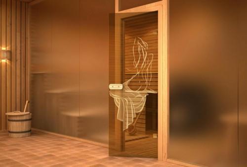 Двери для парилки в сауне