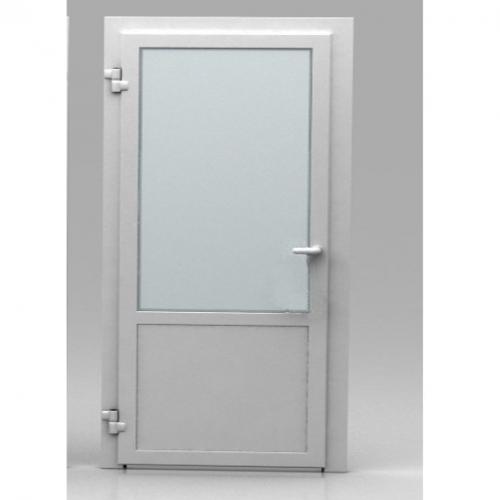 Для моечной можно выбрать и пластиковую дверь