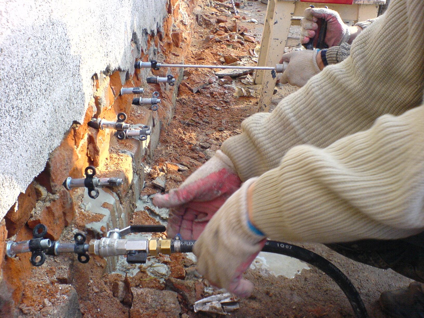 Инъекционный ремонт фундамента