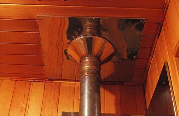 Как сделать дымоход в бане через стену своими руками