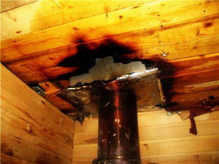 Результат плохой герметизации и не соблюдение  противопожарных мер