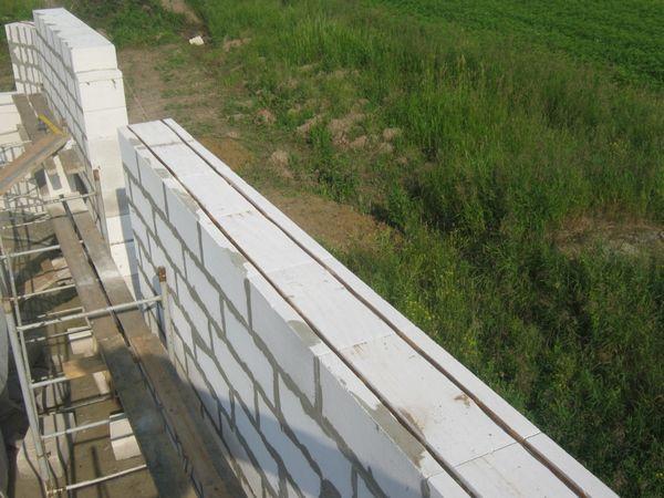 Устройство стен бани из блока