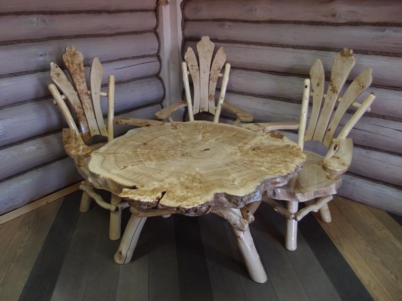 Круглый стол под старину своими руками 916