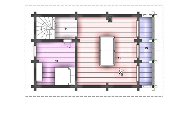 просторная баня фасад план 2эт