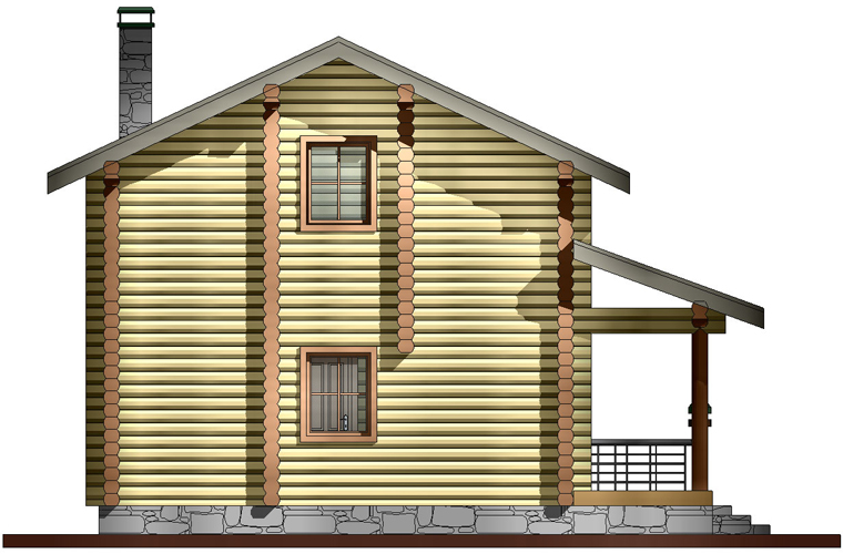 просторная баня фасад 2