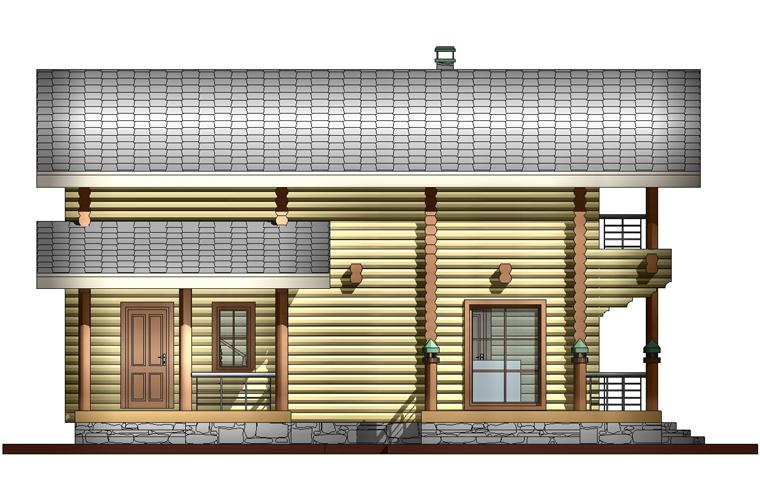 просторная баня фасад 4