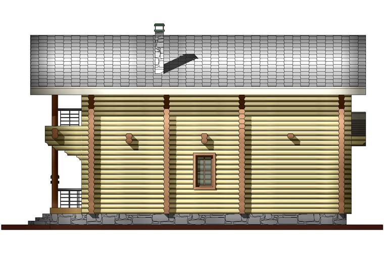 просторная баня фасад