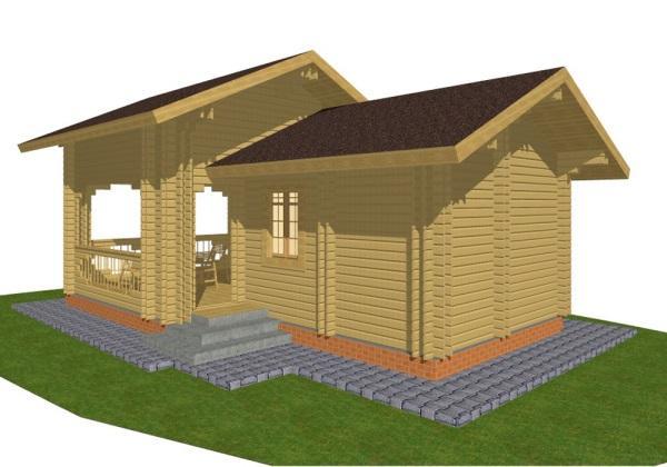 Проекты деревянных бань с