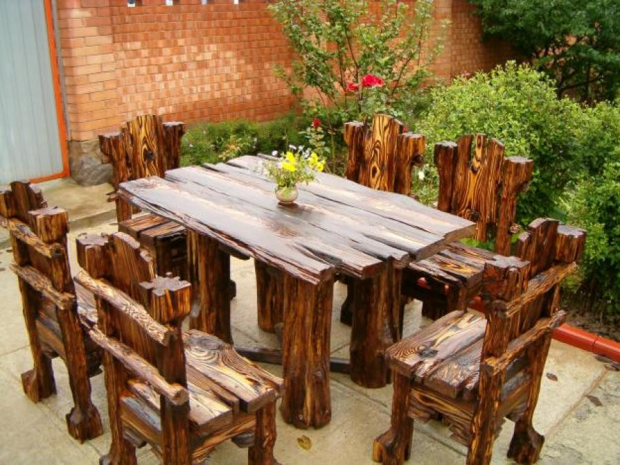 Стол и стулья своими руками из дерева
