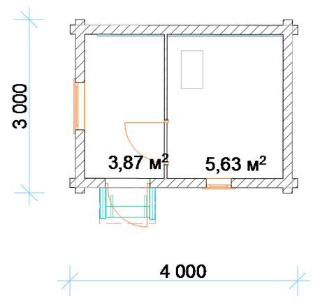 Баня своими руками проекты фото 3х4 из блоков