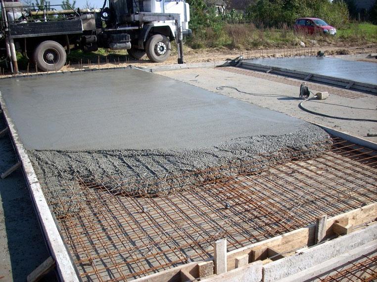 Бетонная плита под фундамент