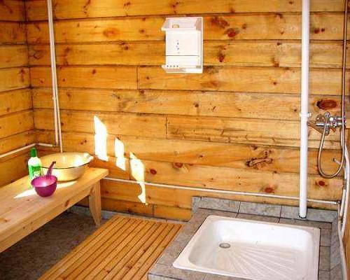Как сделать баня и душ