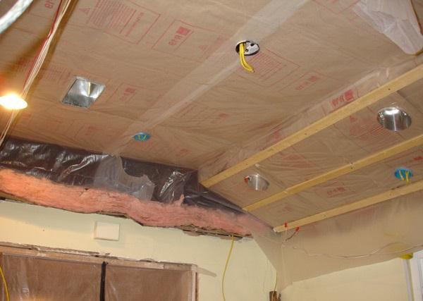 Пароизоляция гидроизоляция чернового потолка бани силиконовая мастика белая односоставная