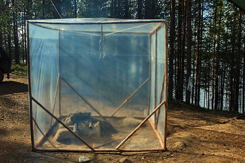 как сделать палатку для рыбалки из пленки