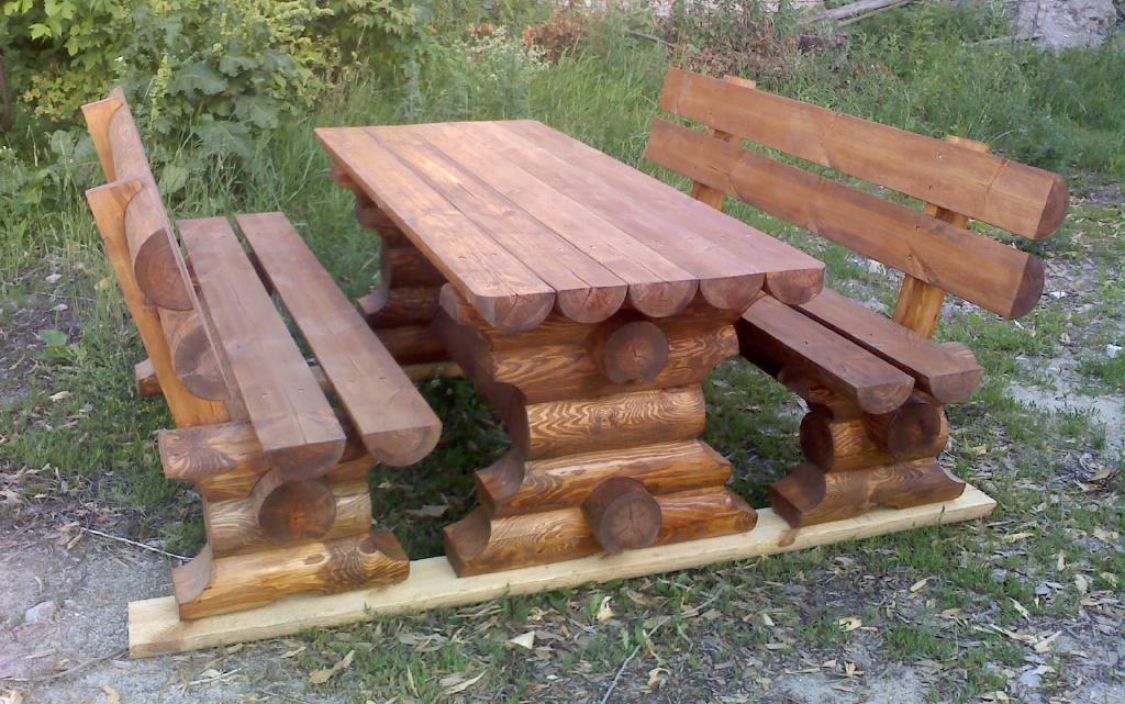 Готовый стол для бани