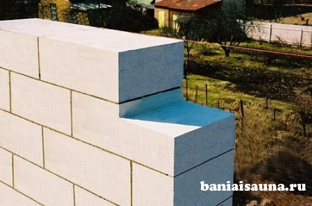 Проект бани из пеноблоков, описание, фото