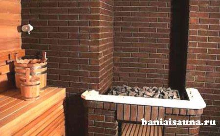 Печь для бани с баком
