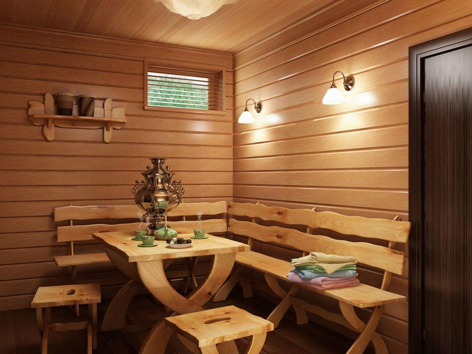 Выбор входной двери также зависит от расположения самой бани