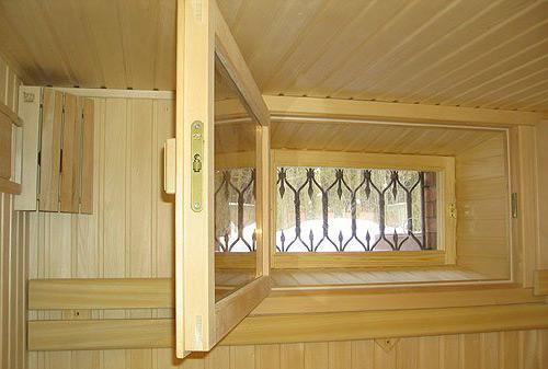Деревянные окна наиболее предпочтительны в бане