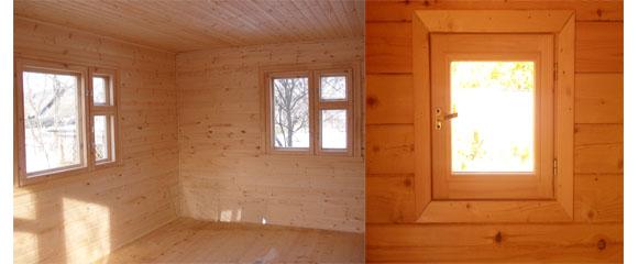Деревянные окна являются оптимальным выбором для бани
