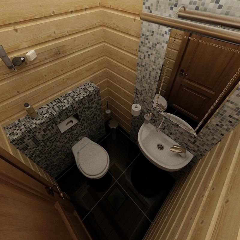 Как сделать туалет в бане