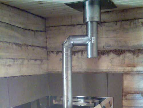 Конфигурации дымоходов в бане своими руками