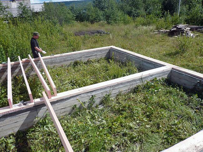 Ленточный фундамент для бани 3 на 4 метра