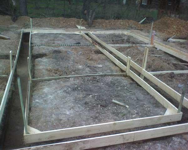 Простой фундамент для бани 3х4