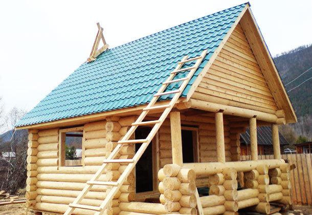 Создание крыши на доме совмещенном с баней