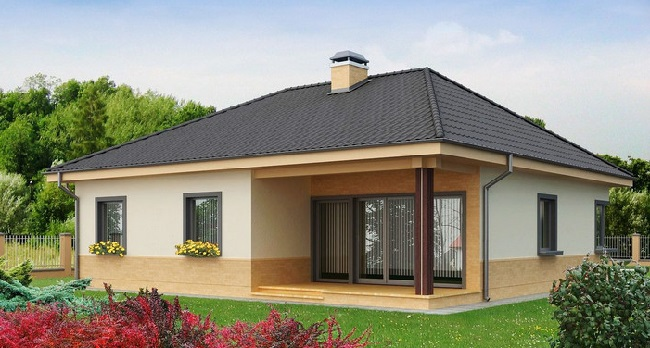 дом с баней из пеноблока