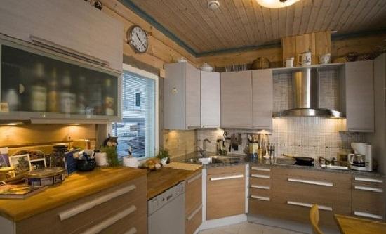 интерьер финского дома-бани