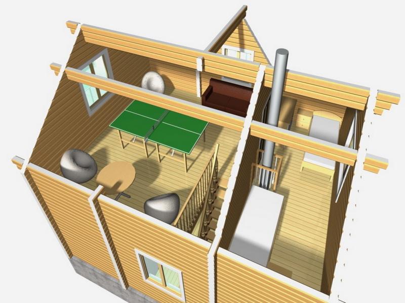 3d макет 2 этаж