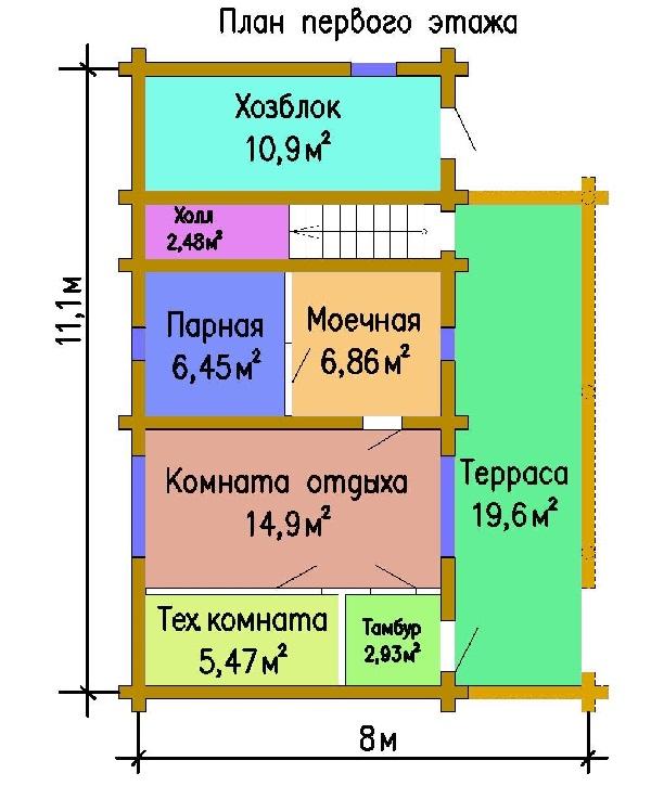 banya s hozblokom 1 etazh