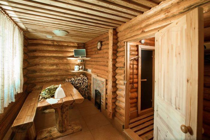 пример комнаты отдыха в бане